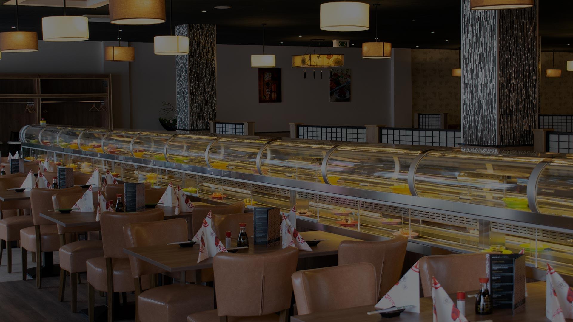 Running Sushi Restaurant Fürth Großes dopeltes Sushiband