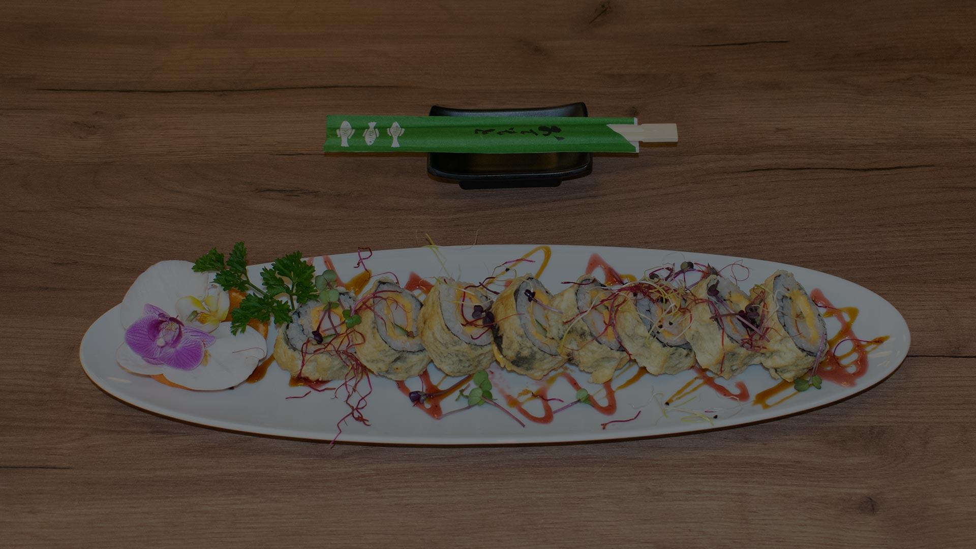 Running Sushi Restaurant Fürth Sushi Spezial Rolle